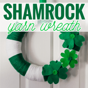 Shamrock Yarn Wreath