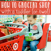 How to Grocery Shop With a Toddler or two