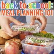 Back to SchooL Meal Planning 101