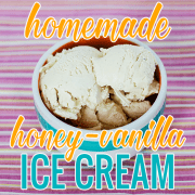 Homemade Honey-Vanilla Ice Cream 3