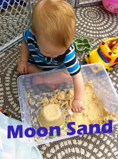 Rainy Day Activity Part 2 Moon Sand