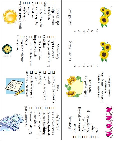 Daily Routine Checklist With Prayers and Quotes for the Day Daily - daily checklist