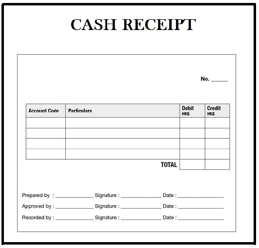 Free Cash Receipt Template in Word, Excel  PDF Format Daily Roabox - Cash Receipt Voucher Word Format