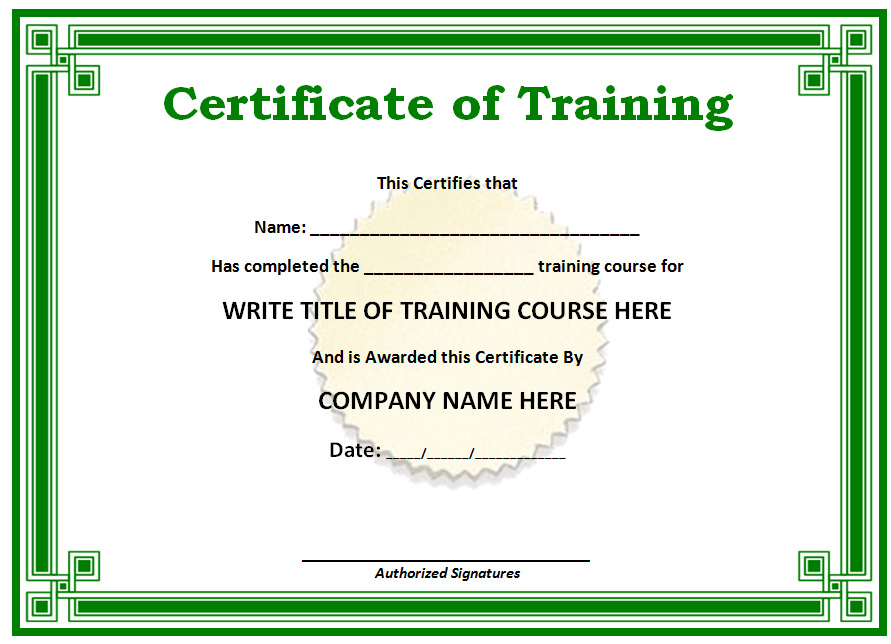 Free Printable Certificates Templates Word & Sample | Daily Roabox