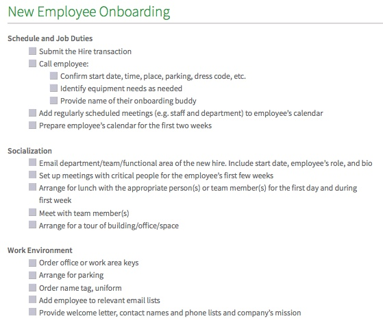 Employee Onboarding Checklist Template - Daily Roabox Daily Roabox