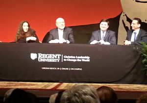 Panel: (Left to right) Claire Berlinski, Stephen Knott, Stewart McLaurin and Jospeh Loconte