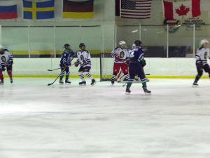 The team played in the playoffs at Iceland of Hampton Roads. March 2018. (Regent Ice Hockey Facebook Page)