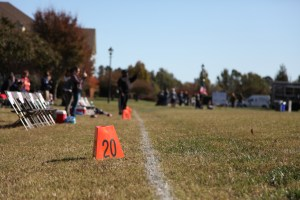 The all-star flag football teams square off on Regent University's Robertson field, Saturday, Nov. 12, 2016. (Nicolas Reynolds)