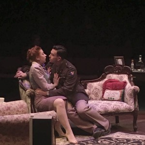 Lieutenant Bill Seawright, played by Judah Duncan, 18, attempts to woo the already engaged Ruth Wilkins, played by Kaitlin Clabbers, 22, Virginia Beach, V.A., Dec. 2016. (Emily Nevala)
