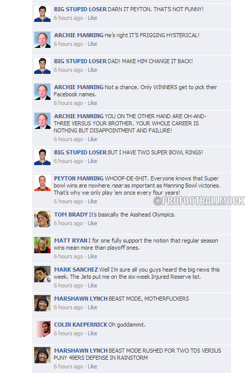 ProFootballMock\u0027s NFL QBs on Facebook Convos Week 2 - Daily Snark