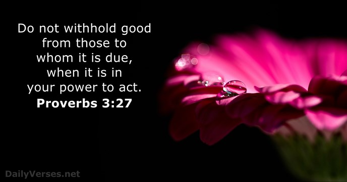 Jesus Christ 3d Wallpaper Proverbs 3 27 Bible Verse Of The Day Dailyverses Net