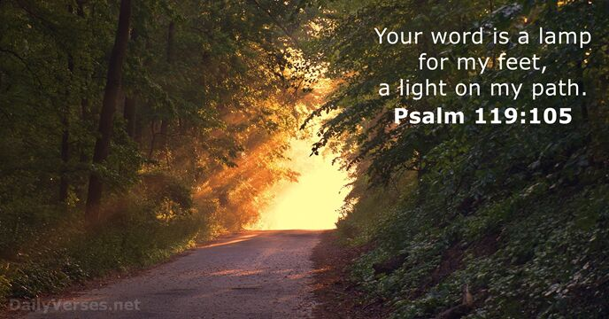 Fall Wallpaper With Verse Psalm 119 105 Bible Verse Of The Day Dailyverses Net