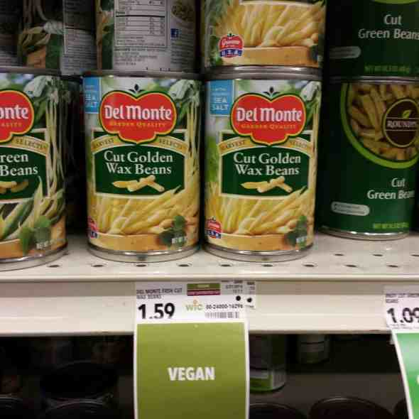 Can of vegan beans.