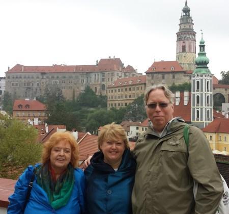 Eileen, Therese and Karl in Cesky Krumlov