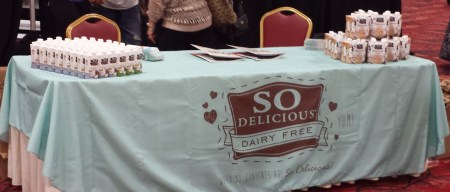 So Delicious Sponsor Table at the Food Allergy Bloggers Conference