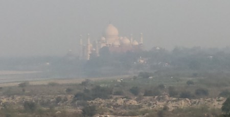 Taj Mahal Through the Haze, from the Agra Fort