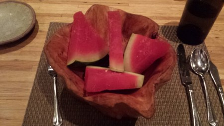 Appetizer of Dried Salted Watermelon