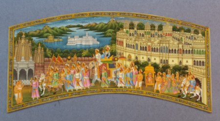 Our Miniature Painting of Udaipur with the Prince's Procession
