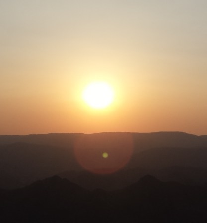 Sun Setting From the Monsoon Palace