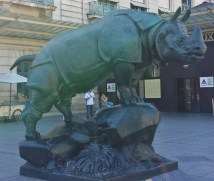 Rhino Sculpture outside Musee d'Orsay