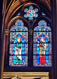 Stained Glass Behind Altar of Lower Chapel