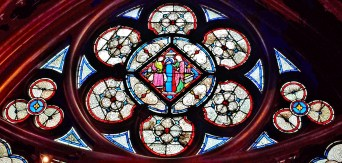 Stained Glass Window(2) of Lower Chapel