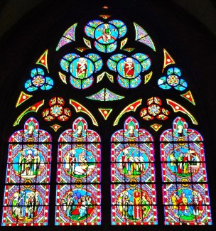 Bayeux Cathedral Stained Glass Window