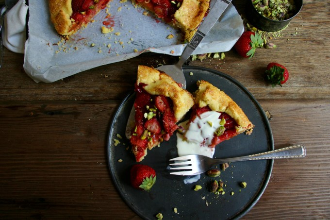 Rustic Strawberry & Pistachio Galette