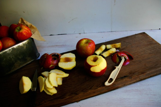peeling and coring apples