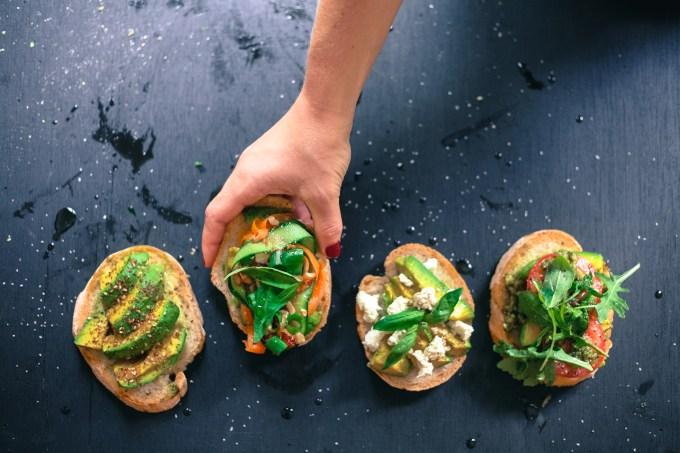 avocado on bread 4 ways