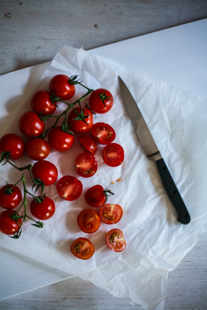 cherry tomatoes food photography