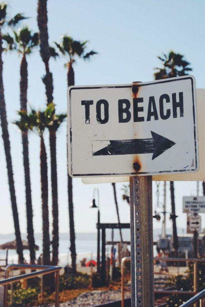 to beach