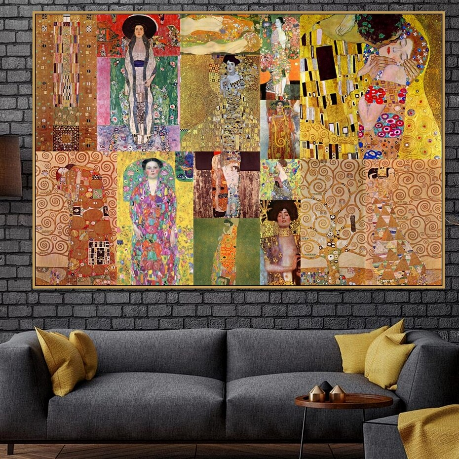 Canvas Paintings Wall Art Home Decoration Gustav Klimt Poster 1 Panel Hd Prints Abstract Modular Pictures Living Room Framework Daisy S Corners