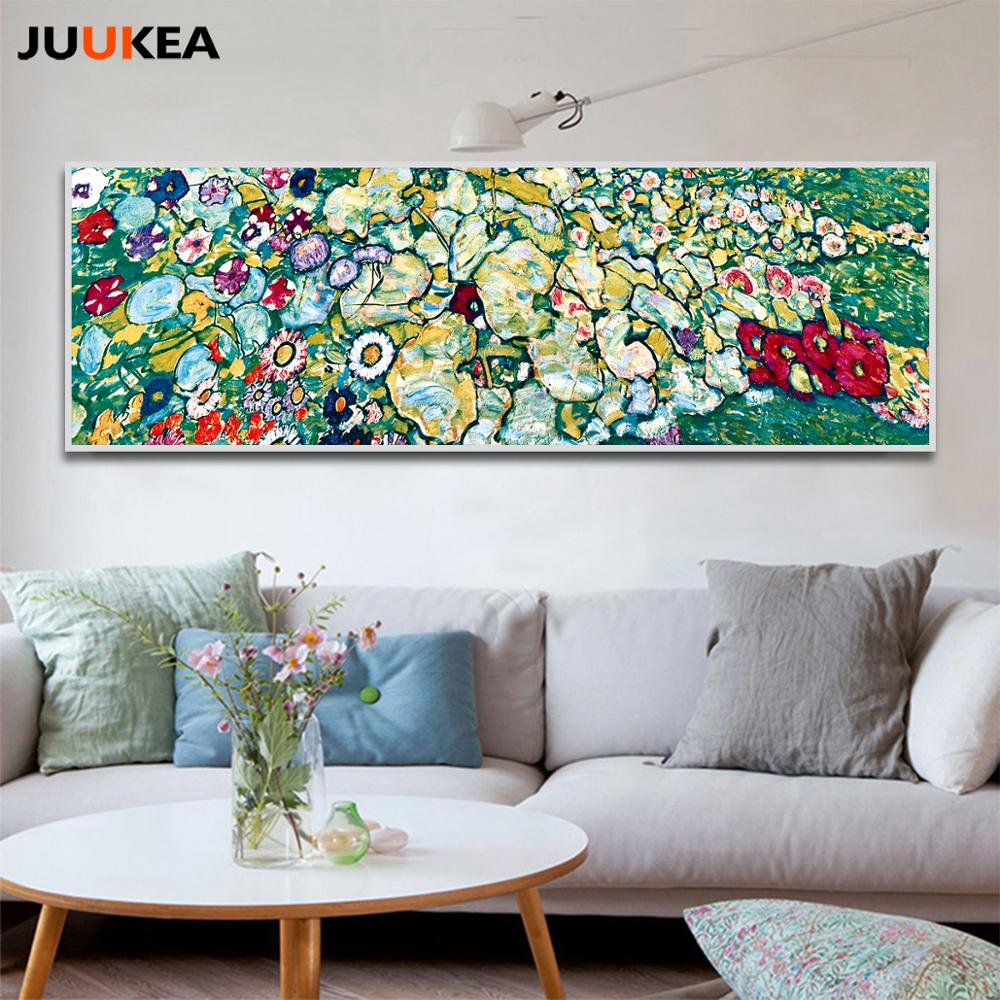Classic Artist Gustav Klimt Grove Abstract Oil Painting Large Canvas Print Poster Modern Art Wall Picture Living Room Cuadros Daisy S Corners