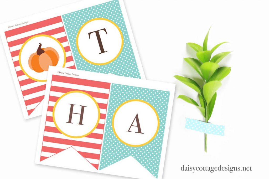 Printable Thanksgiving Banner - Daisy Cottage Designs