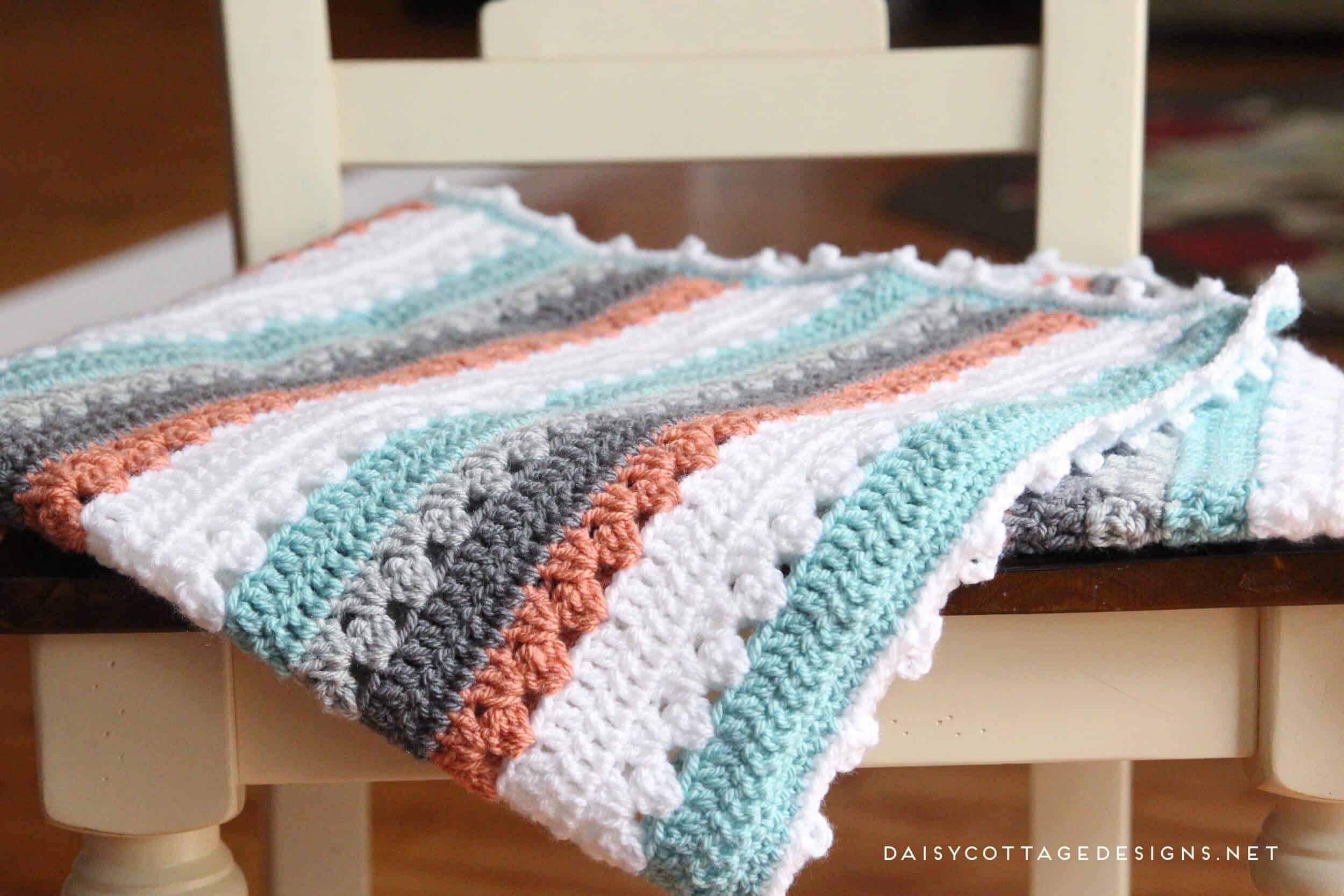 Crochet Blanket Pattern A Quick Simple Pattern Daisy