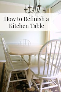 How to Refinish a Kitchen Table - daisymaebelle ...