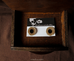 Custom Blythe Eye Chips All Hand made Hand paint Beige