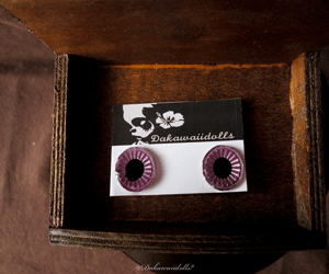 Custom Blythe Eye Chips All Hand made Hand paint Lavender