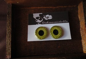 Custom Blythe Eye-chip Yellow, Silver and Metal Yellow EC-17A