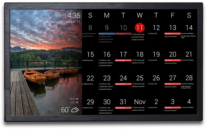 electronic weekly planner
