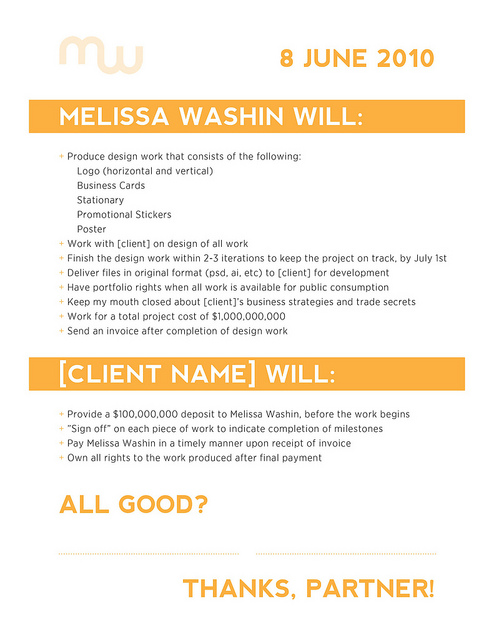 Design Contract - Bonsai - contract clauses you should never freelance without