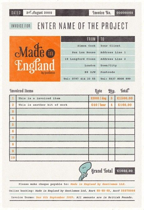 Freelance Graphic Designer Invoice Template - Bonsai - freelance designer invoice template