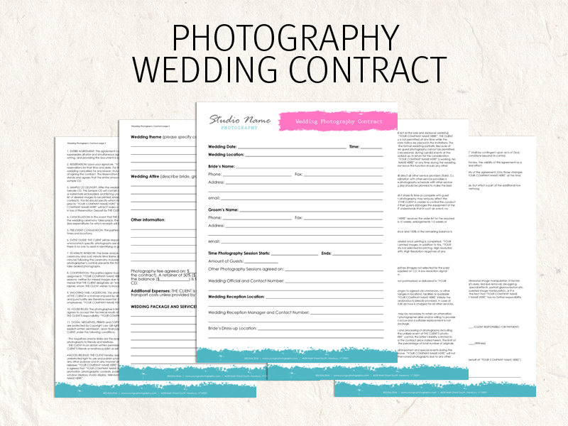 Wedding Photography Contract Template Bonsai - Bonsai - videography contract template