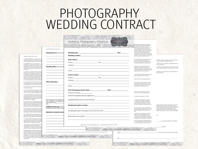 Wedding Photography Contract Template Bonsai - Bonsai