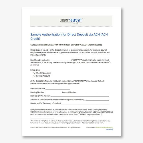 Ach Deposit Authorization Form Template LondaBritishcollegeCo
