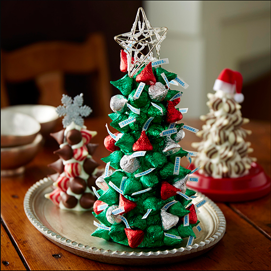 Sillas De Cristal Bellas Ideas Para Navidad Con Chocolates Kisses De Hershey