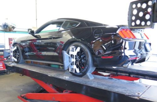 New Ford Mustang was in for Eibach Suspension upgrade and wheel alignment