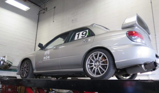 '06 Subaru STi track beast in for some upgrades.