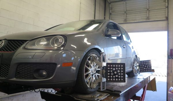 VW Golf Mk V in for Whiteline Suspension components and Alignment at Dales Auto Service